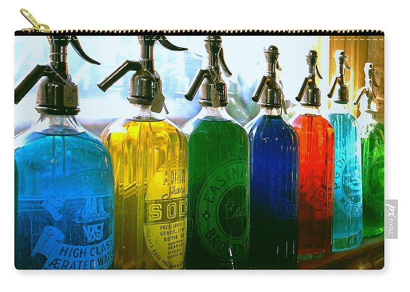 Food And Beverage Carry-all Pouch featuring the photograph Pour Me A Rainbow by Holly Kempe
