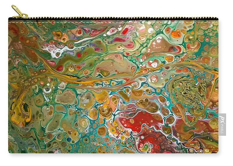 Pour Carry-all Pouch featuring the painting Pour10 by Valerie Josi