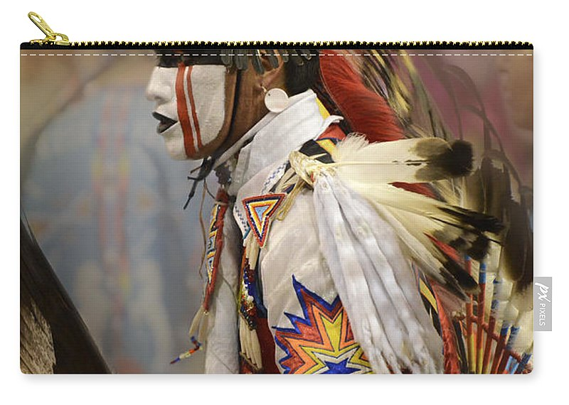 Pow Wow Carry-all Pouch featuring the photograph Pow Wow First Nation Dancer by Bob Christopher