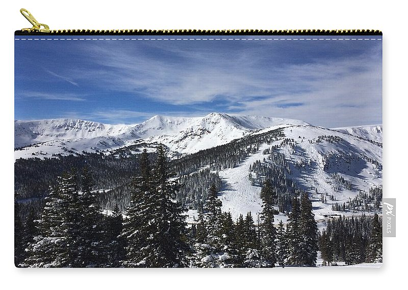 Skiing Carry-all Pouch featuring the photograph Powder Day On The Pass by Brian Mosesso