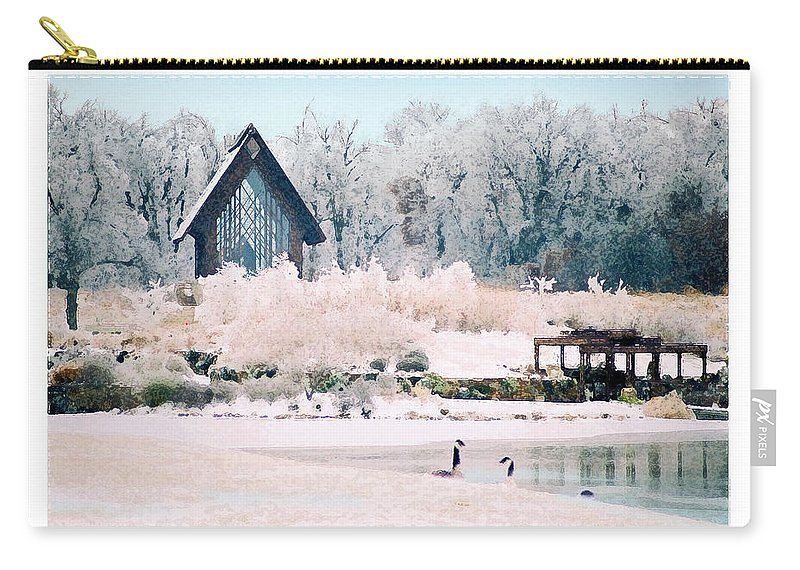 Landscape Carry-all Pouch featuring the photograph Powell Gardens Chapel by Steve Karol