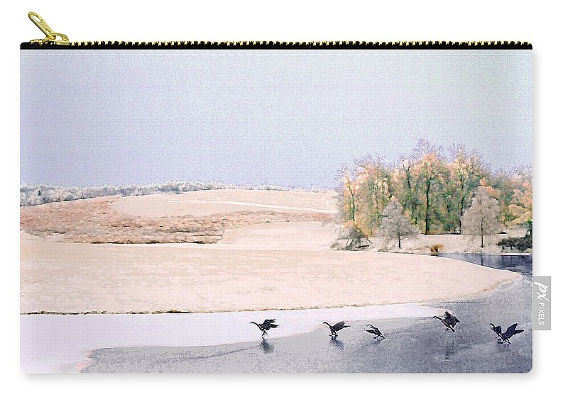 Landscape Carry-all Pouch featuring the photograph Powell Gardens in Winter by Steve Karol