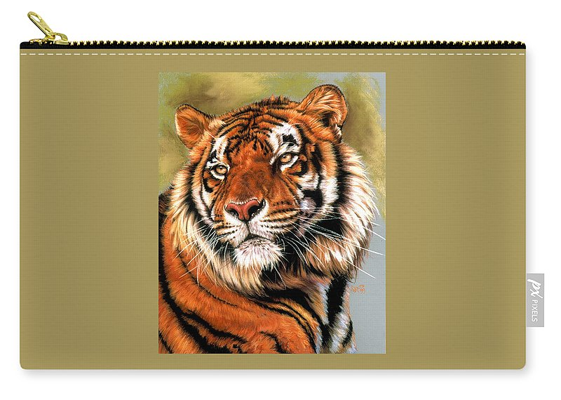 Tiger Carry-all Pouch featuring the pastel Power and Grace by Barbara Keith