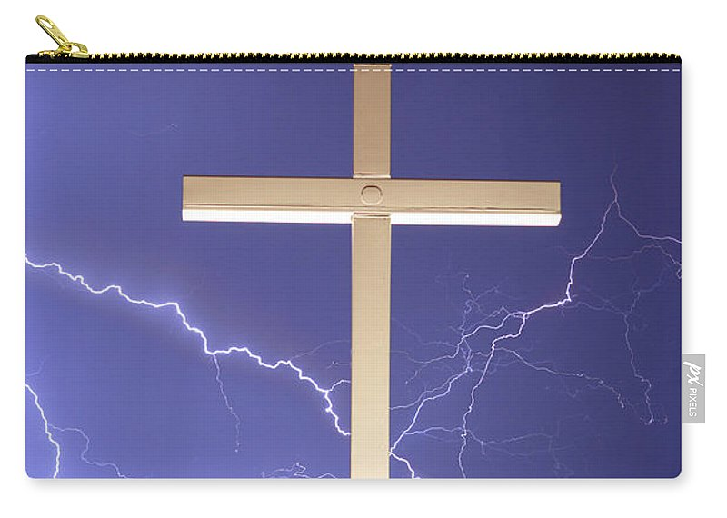 Lightning Carry-all Pouch featuring the photograph God Power by James BO Insogna