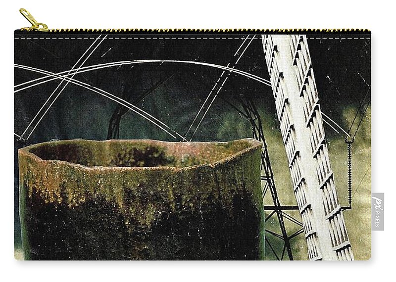 Abstract Carry-all Pouch featuring the mixed media Power Lines by Sarah Loft