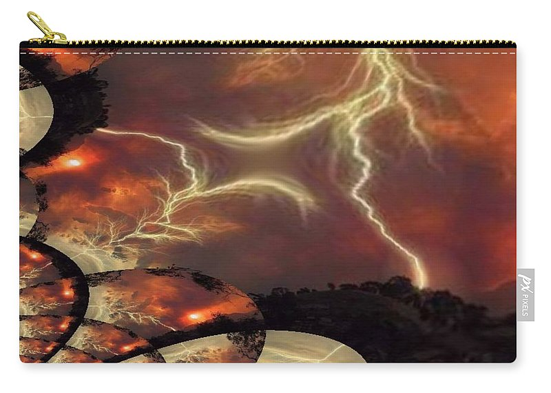 Lightning Carry-all Pouch featuring the photograph Power Punch by Tim Allen