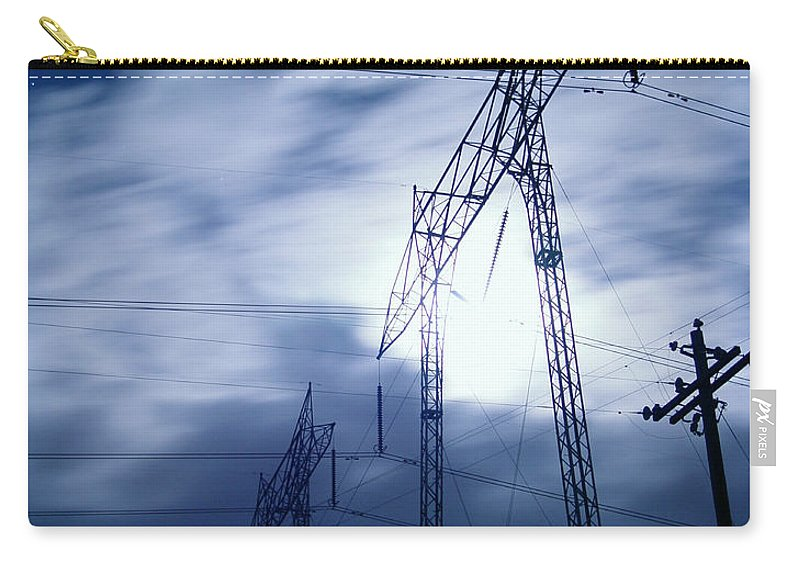 Clouds Carry-all Pouch featuring the photograph Power Surge by Peter Piatt