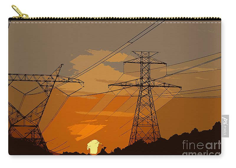 Power Carry-all Pouch featuring the painting Power To The People by David Lee Thompson