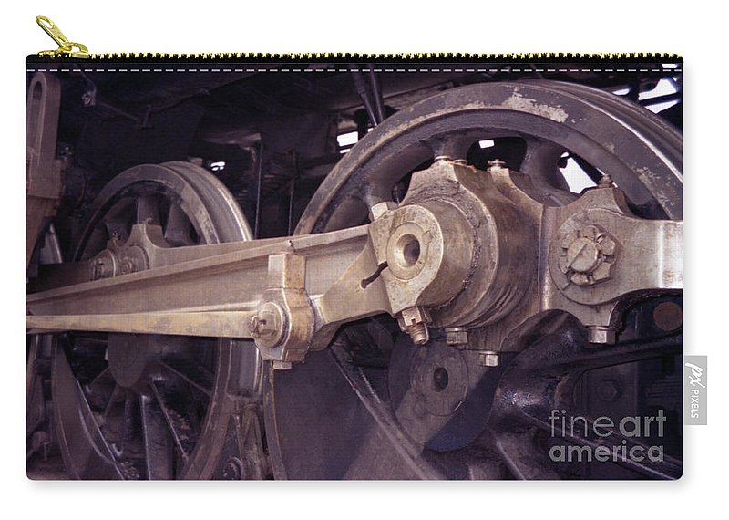 Trains Carry-all Pouch featuring the photograph Power Train by Richard Rizzo