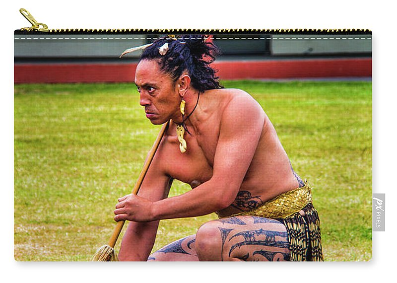 Maori Carry-all Pouch featuring the photograph Powhiri 2 by Roberta Bragan