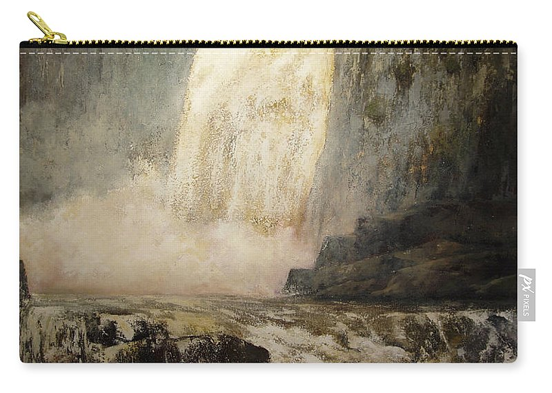 Cascada Carry-all Pouch featuring the painting Pozo De Los Humos by Tomas Castano