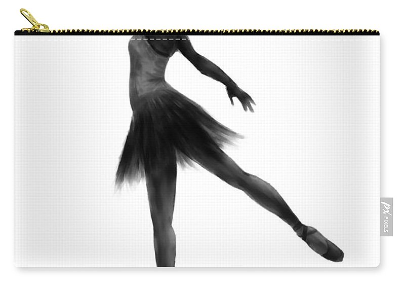 Ballet Carry-all Pouch featuring the digital art Practice Makes Perfect by Alina Davis