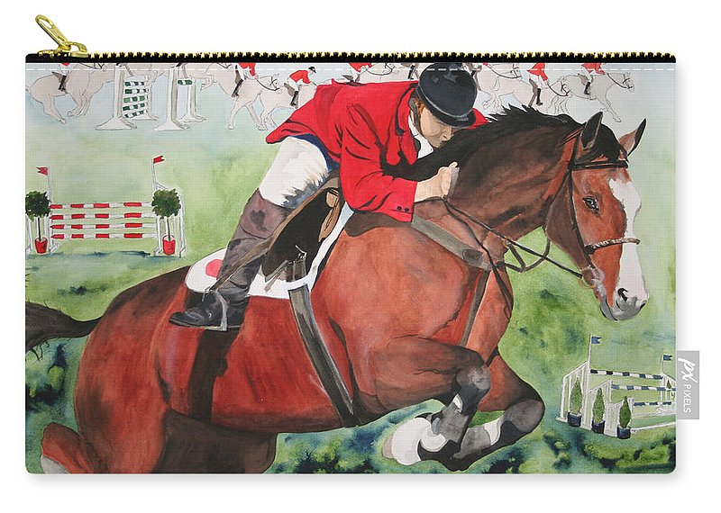 Horse Carry-all Pouch featuring the painting Practice Makes Perfect by Jean Blackmer