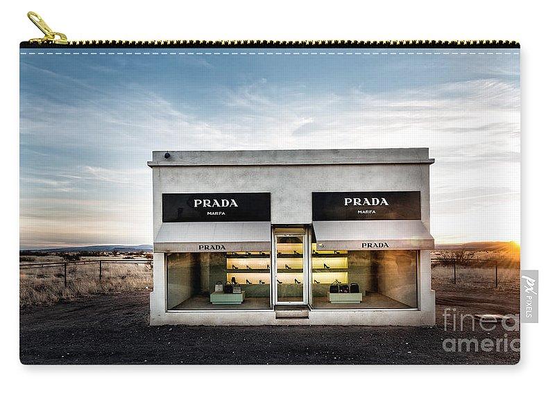 Prada Carry-all Pouch featuring the photograph Prada Marfa by Edward Fielding