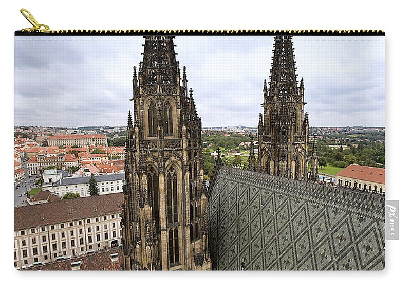 Prague Carry-all Pouch featuring the photograph Prague Castle by Madeline Ellis