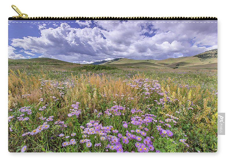 Wild Flowers Carry-all Pouch featuring the photograph Prairie Blooms by Jack Bell