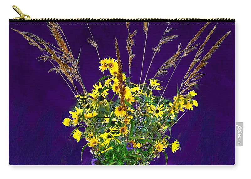 Flowers Carry-all Pouch featuring the photograph Prairie Bouquet by Steve Karol