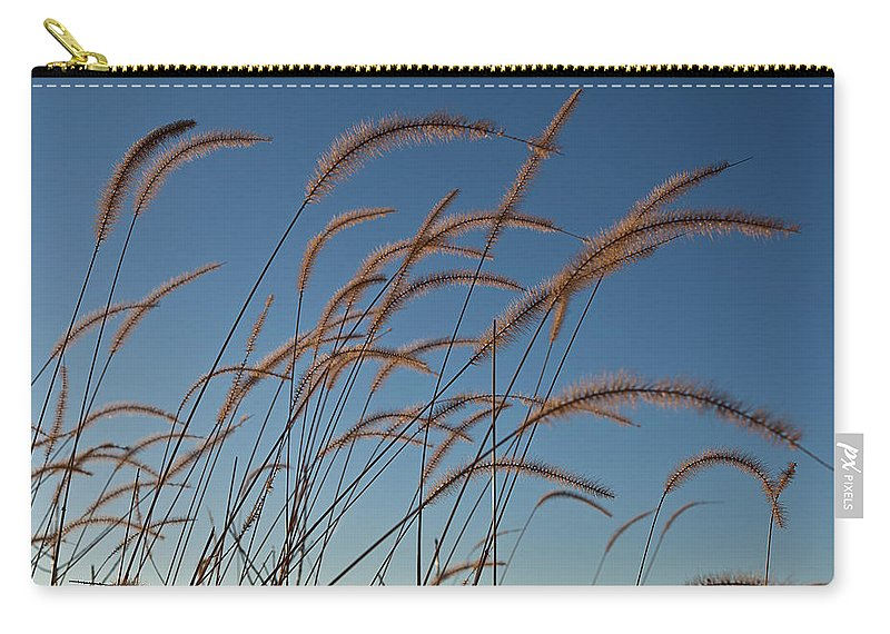 Native Carry-all Pouch featuring the photograph Prairie Grass Landscape by Steve Gadomski