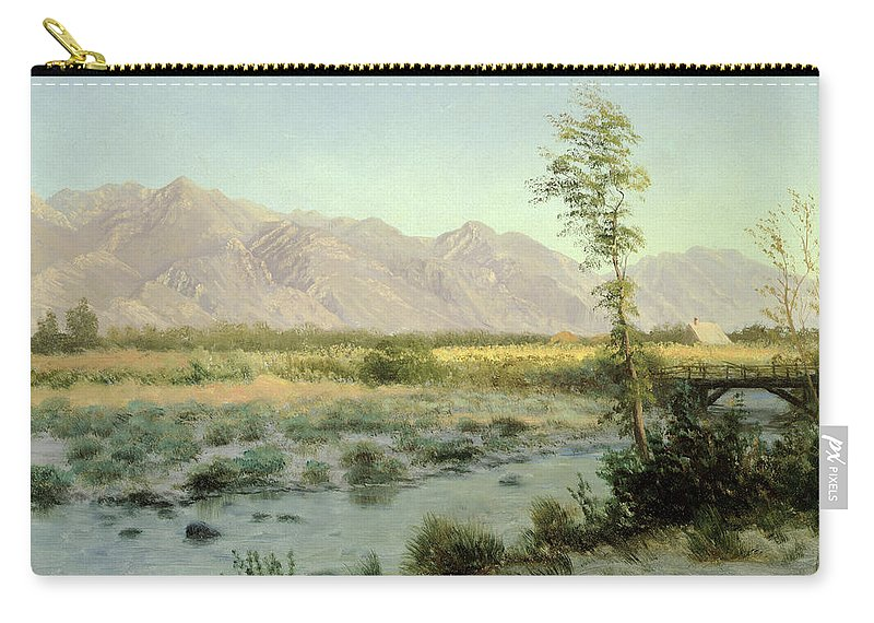 Prairie Carry-all Pouch featuring the painting Prairie Landscape by Albert Bierstadt