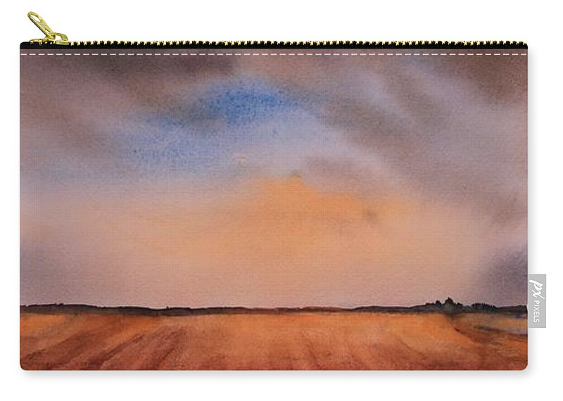 Prairie Carry-all Pouch featuring the painting Prairie Playground by Ruth Kamenev