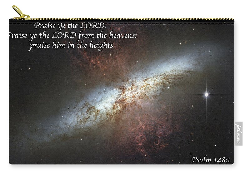 Space Carry-all Pouch featuring the photograph Praise Him From The Heavens by Michael Peychich