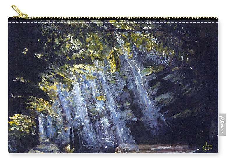 Landscape Carry-all Pouch featuring the painting Prameny Svetla by Pablo de Choros