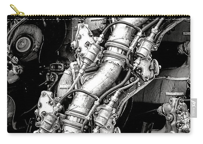 Radial Carry-all Pouch featuring the photograph Pratt And Whitney Wasp Major by Olivier Le Queinec