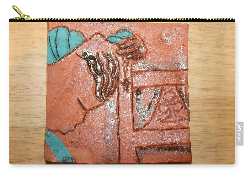 Jesus Carry-all Pouch featuring the ceramic art Prayer 40 - Tile by Gloria Ssali