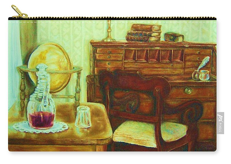 Prayer Room Carry-all Pouch featuring the painting Prayer Closet by Carole Spandau