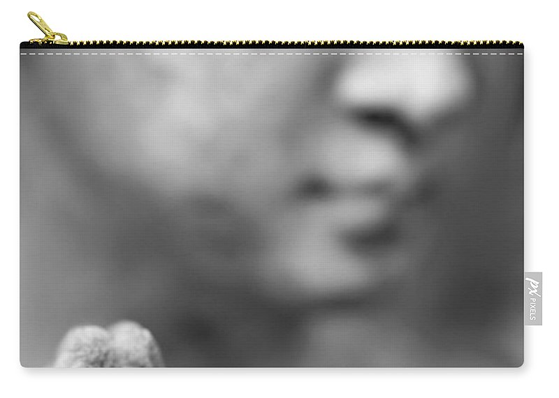 Hand Carry-all Pouch featuring the photograph Praying Hands by Neil Overy