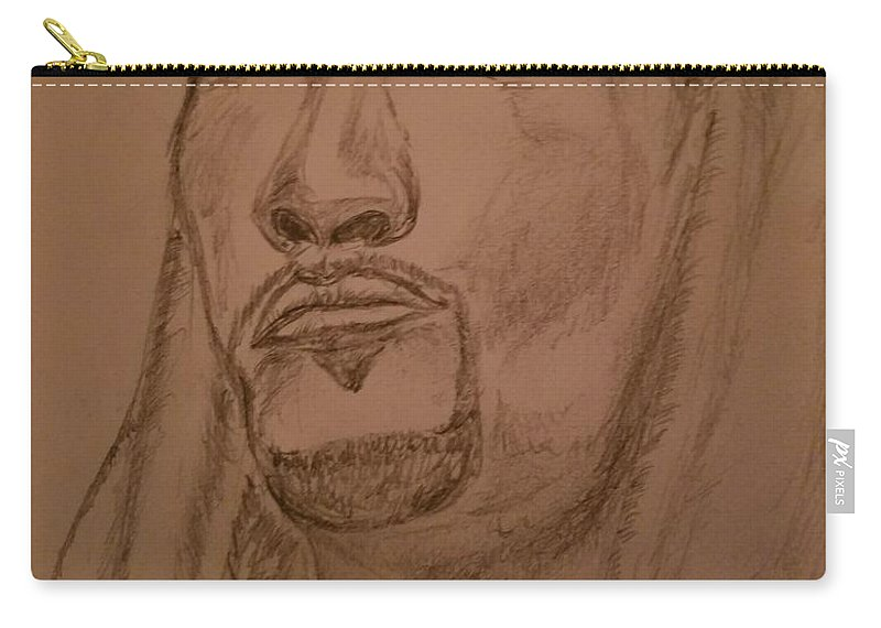 Praying Carry-all Pouch featuring the photograph Praying Man by Richard Howell