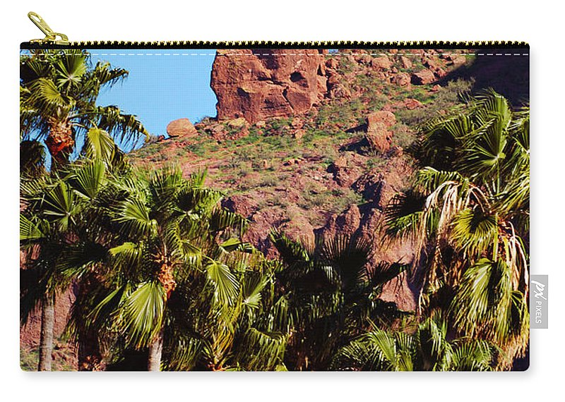 Mountain Carry-all Pouch featuring the photograph Praying Monk by Jill Reger