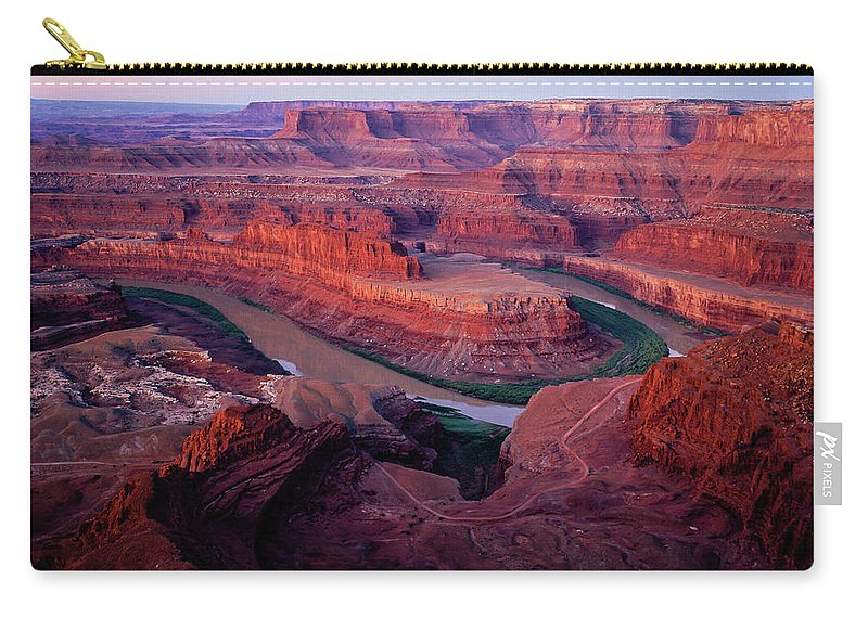 Colorado Plateau Carry-all Pouch featuring the photograph Dawn At Dead Horse Point by Tracy Knauer