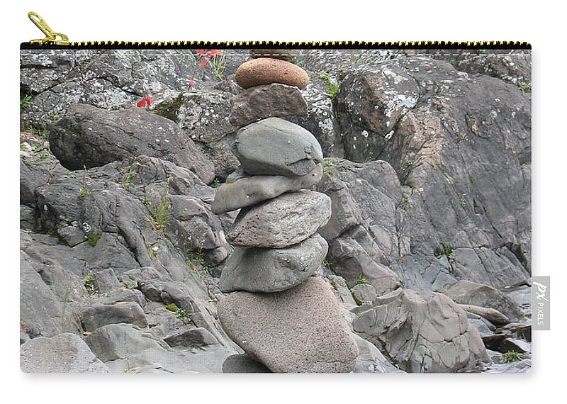 Stones Carry-all Pouch featuring the photograph Precarious by Kelly Mezzapelle