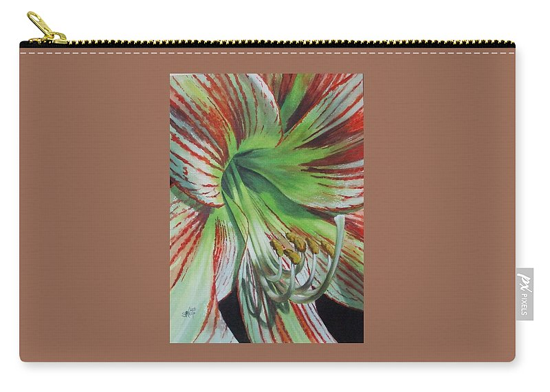 Amaryllis Carry-all Pouch featuring the painting Precious by Barbara Keith