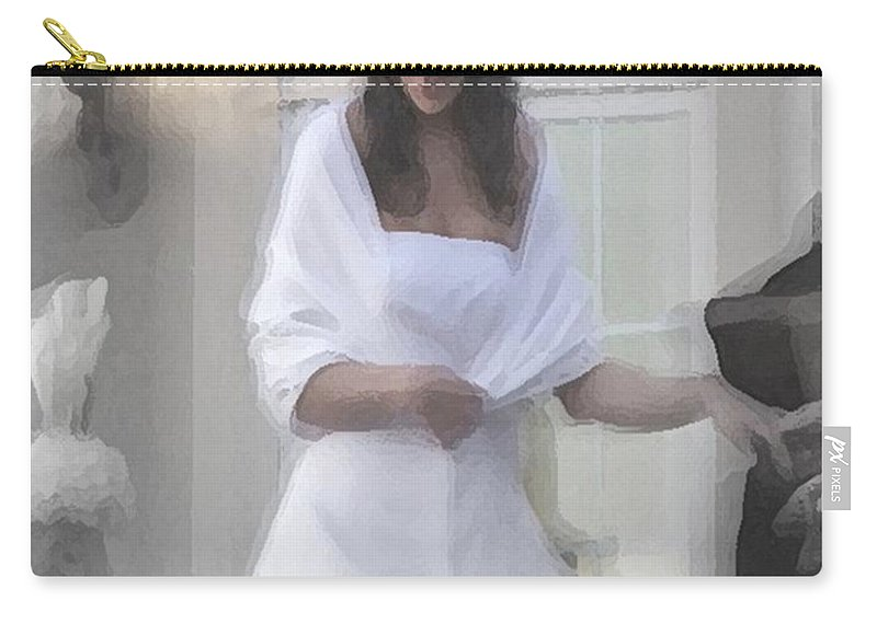 Wedding Carry-all Pouch featuring the digital art Precious Memories by Robert Meanor