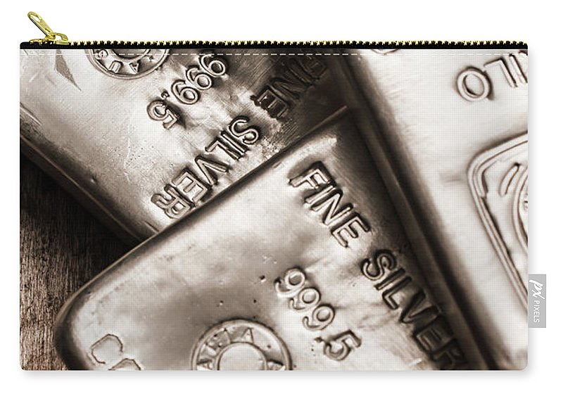 Commodity Carry-all Pouch featuring the photograph Precious Metal Art by Jorgo Photography - Wall Art Gallery