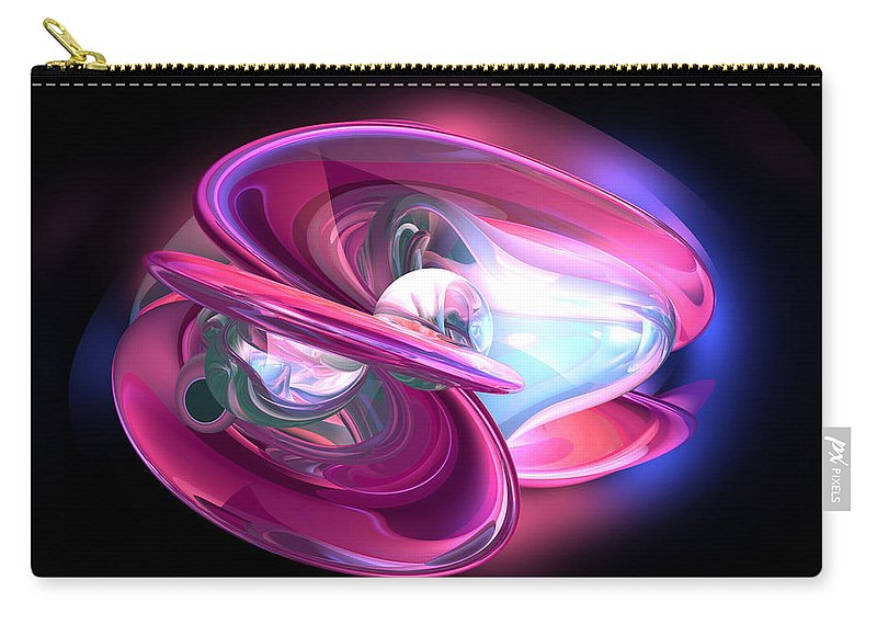 3d Carry-all Pouch featuring the digital art Precious Pearl Abstract by Alexander Butler