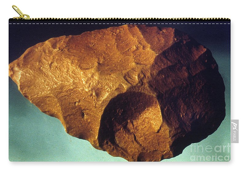 Ancient Carry-all Pouch featuring the photograph Prehistoric Flint Blade by Granger