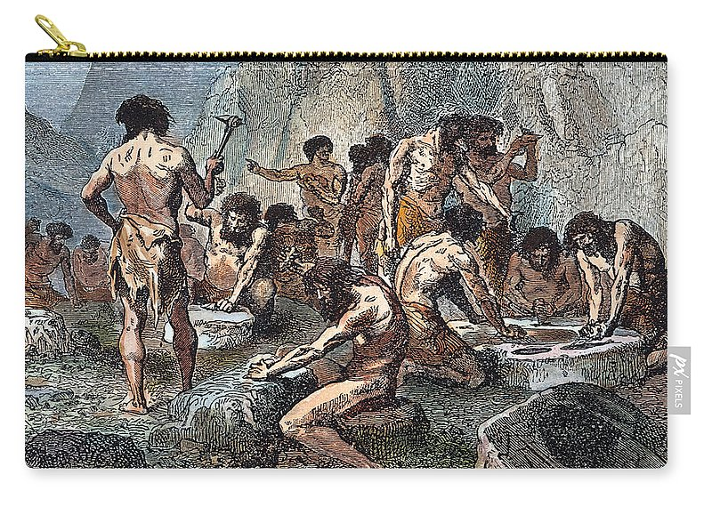 Ancient Carry-all Pouch featuring the photograph Prehistoric Man: Tools by Granger
