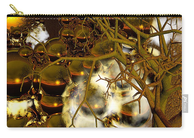 Sphere Carry-all Pouch featuring the digital art Premonitions by Robert Orinski