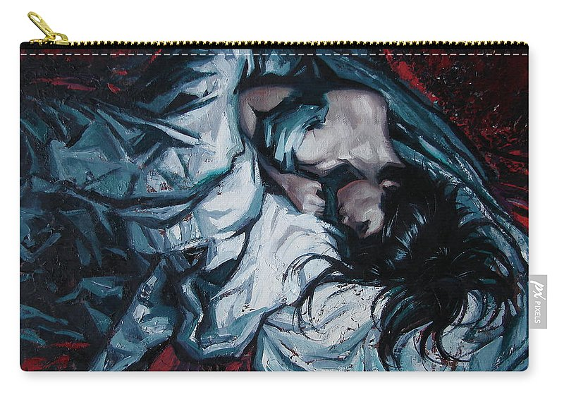 Oil Carry-all Pouch featuring the painting Presentiment Of Insomnia by Sergey Ignatenko