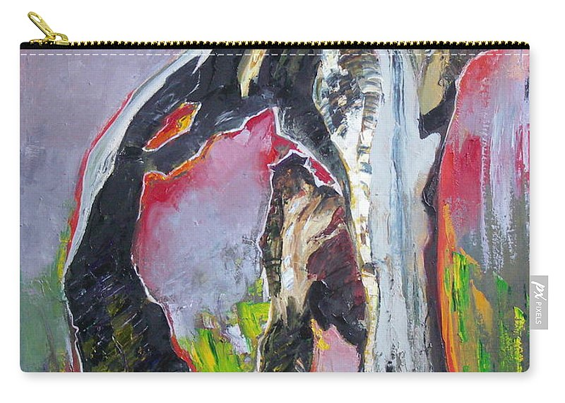 Oil Carry-all Pouch featuring the painting Presentiment by Sergey Ignatenko
