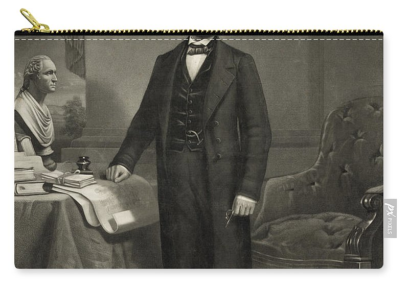 abraham Lincoln Carry-all Pouch featuring the photograph President Abraham Lincoln by International Images