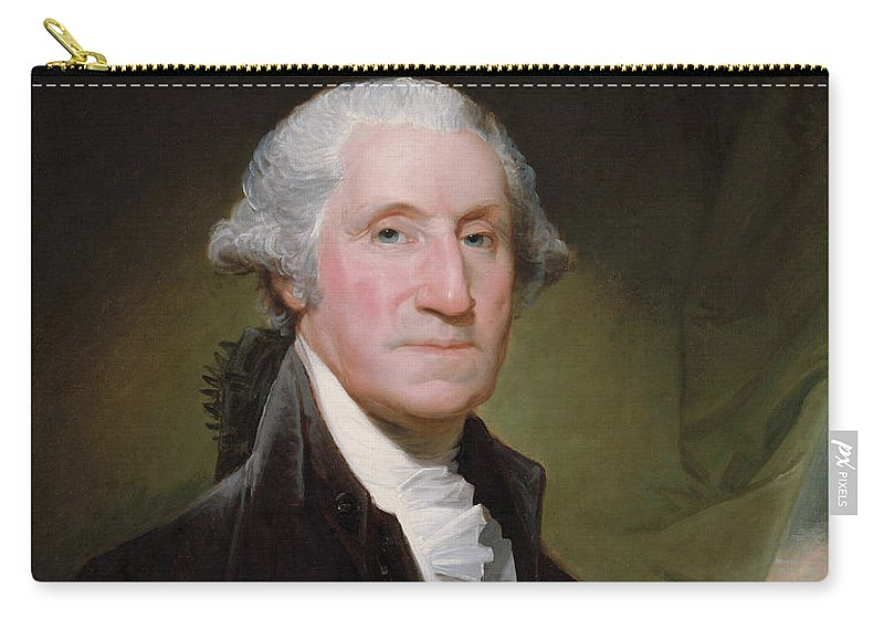 George Washington Carry-all Pouch featuring the painting President George Washington by War Is Hell Store