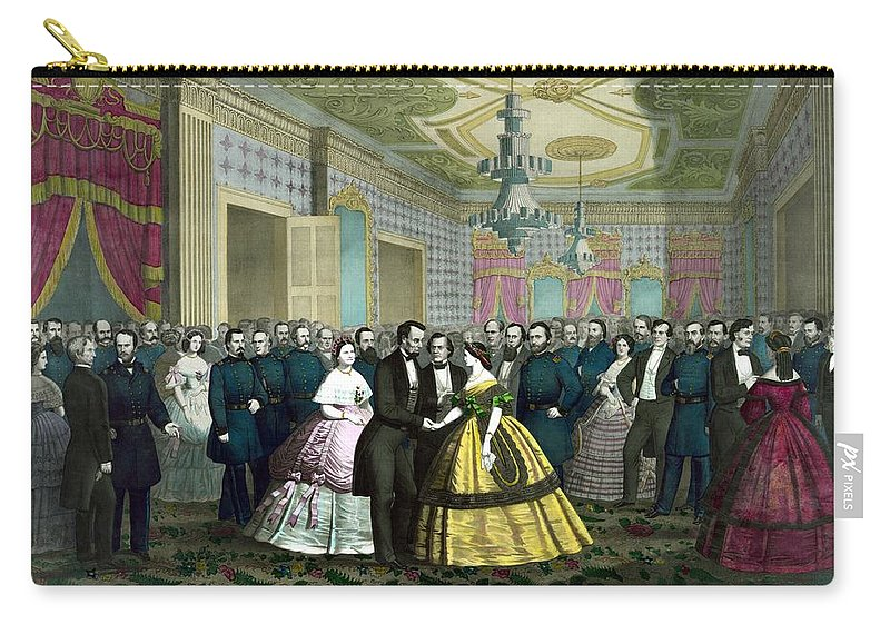 Abraham Lincoln Carry-all Pouch featuring the painting President Lincoln's Last Reception by War Is Hell Store