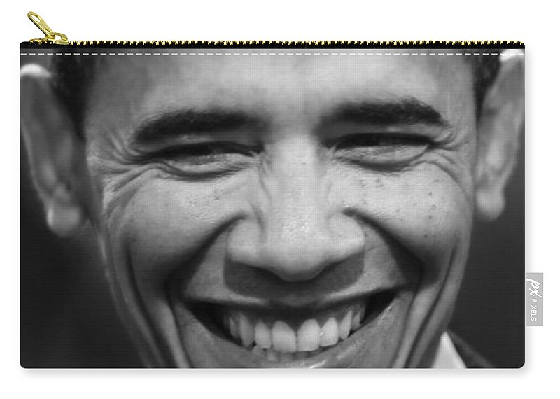 Obama Carry-all Pouch featuring the photograph President Obama V by Rafa Rivas