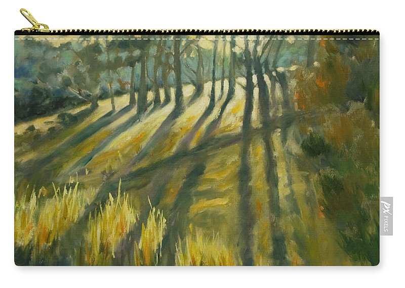 Trees Carry-all Pouch featuring the painting Presidio by Rick Nederlof