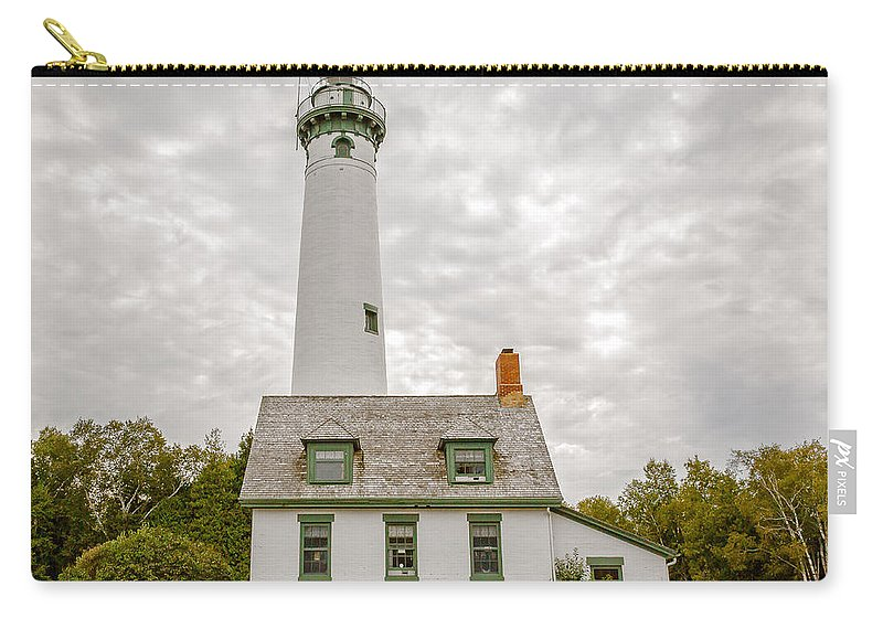 Michigan Carry-all Pouch featuring the photograph Presque Isle Lighthouse - Lake Huron, Lower Peninsula, Mi by Jack R Perry
