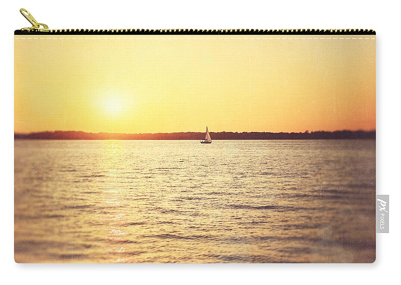 Sailboat Carry-all Pouch featuring the photograph Presque Isle Sunset by Lisa Russo